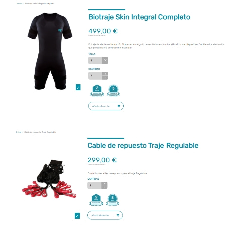 productos ecommerce deportivo